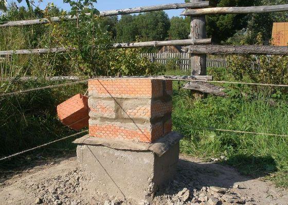 Столбики из кирпича под фундамент